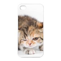 the thinking cat Charging Case for Iphone 4