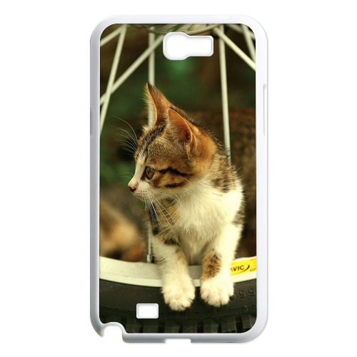 cat on the wheel Case for Samsung Galaxy Note 2 N7100