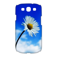 white chrysanthemum Case for Samsung Galaxy S3 I9300 (3D)