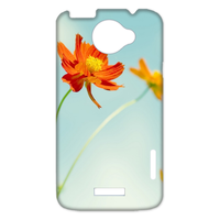 orange flowers Case for HTC One X +