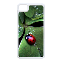 Coccinella septempunctata with three leaves Case for Black Berry Z10