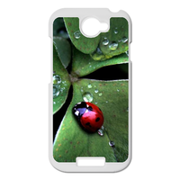 Coccinella septempunctata with three leaves Personalized Case for HTC ONE S