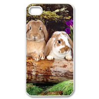 rabbit family Case for iPhone 4,4S