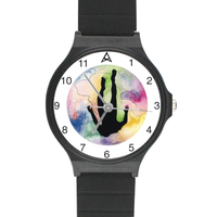 Hallows Black Plastic High Quality Watch