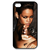 rihanna super hott in actions for iphone 4/5 Custom Case for iPhone 4,4S