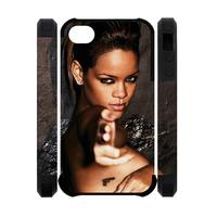 rihanna super hott 3D Polymer Case for IPhone 4,4S Custom Dual-Protective 3D Polymer Case for IPhone 4,4S