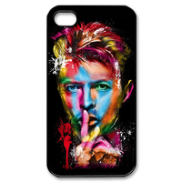 David Bowie Painting for iphone 5, 4/4s case Custom Case for iPhone 4,4S