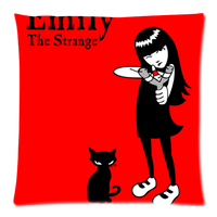 emily the strange Custom Zippered Pillow Cases 18x18 (Twin sides)
