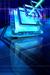blue square space