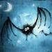 bat under the moonlight