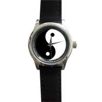 Lady's Black Leather Alloy High-grade Watch Model208