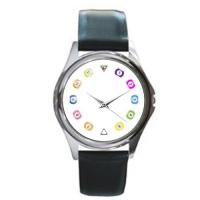 Unisex Silver-tone Round Metal  Watch 216