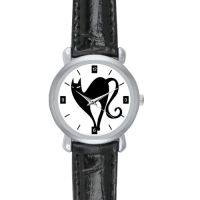 Black Leather Alloy High-grade Watch Model204