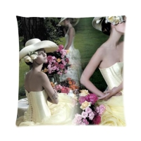 """Custom Zippered Pillow Case 16""""x16""""(two sides)"""