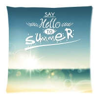 """Custom Zippered Pillow Case 20""""x20""""(two sides)"""