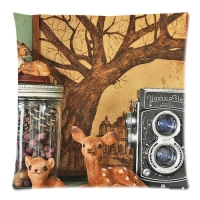 Custom Zippered Pillow Cases 18x18 (Twin sides)