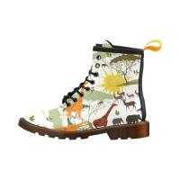 Custom Martens Leather Women's Boots (Model402H)
