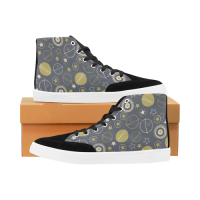 Custom Bootes High Top Canvas Men's Shoes (Model 038)