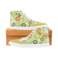 Custom Bootes High Top Canvas Women's Shoes (Model 038) (Large Size)