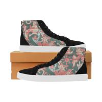 Custom Capricornus High Top Splicing Canvas Women's Shoes (Model 037)