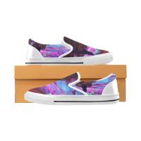 Custom Slip-on Canvas Women's Shoes(Large Size)(Model019)