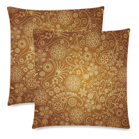 Custom Zippered Pillow Cases 18x18x2 (Twin Sides)