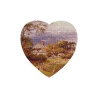 75 Piece Heart-Shaped Jigsaw Puzzle