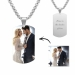Engraved Stainless Steel Photo Dog Tag Necklace