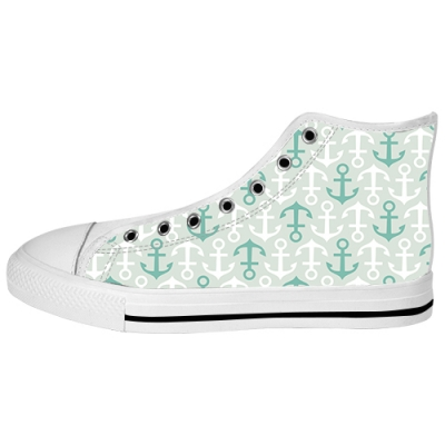 custom aquila high top canvas shoes for