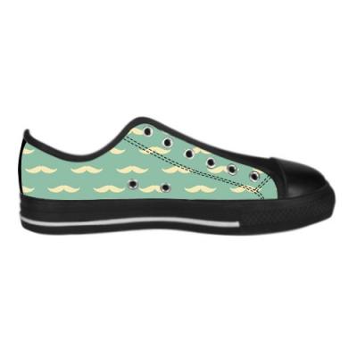 custom aquila canvas shoes for black